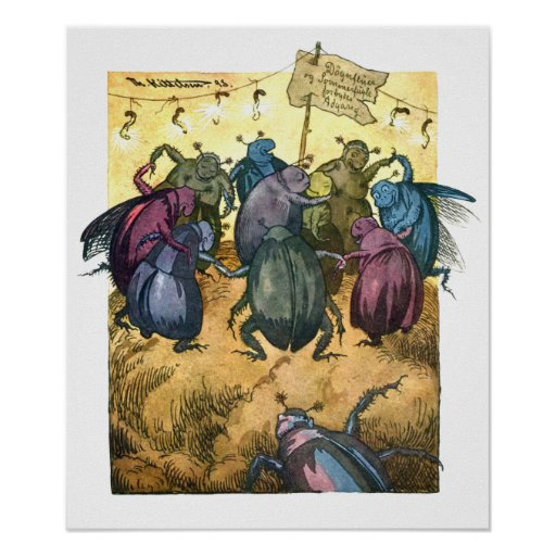 Beetles Celebrating Midsummer Poster