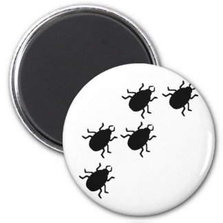 beetles icon 2 inch round magnet