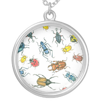 Beetles Silver Plated Necklace