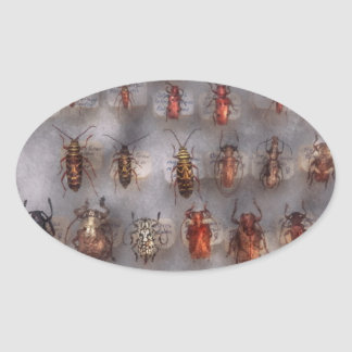 Beetles - The usual suspects Oval Sticker