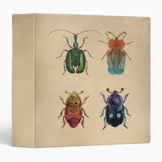 Beetles Vintage Illustration Binder