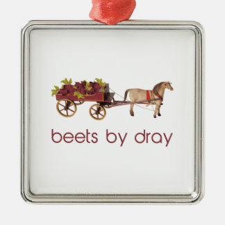 Beets by Horse Drawn Dray Metal Ornament