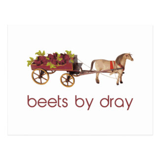 Beets by Horse Drawn Dray Postcard