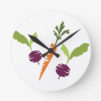 Beets & Carrots Round Clock