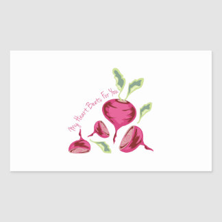 Beets For You Rectangular Sticker