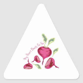 Beets For You Triangle Sticker