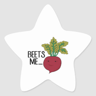 Beets Me Star Sticker