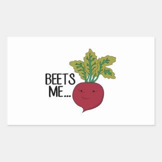 Beets Me Rectangular Sticker