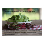 Beets & Spinach Salad with Walnuts Postcard
