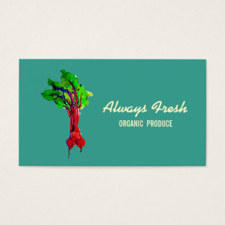 Beets Vegetable Business Card