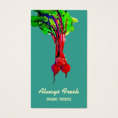 Beets Vegetable Healthy Chef Business Card at Zazzle