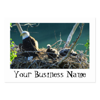 BEF Bald Eagle Family Large Business Cards (Pack Of 100)