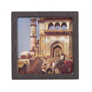 Before A Mosque by Edwin Lord Weeks Keepsake Box