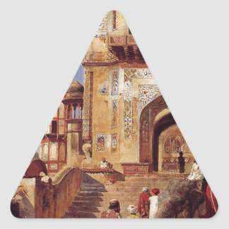 Before A Mosque by Edwin Lord Weeks Triangle Sticker