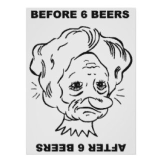 Before and After 6 Beers Poster