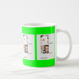 BEFORE AND AFTER - IT REALLY WORKS! CLASSIC WHITE COFFEE MUG