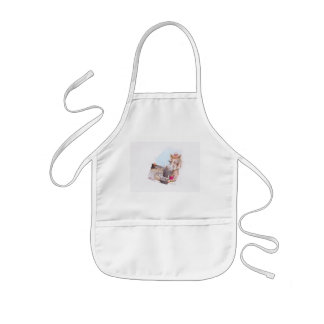 Before and after kids' apron