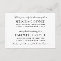 Before and After the Wedding | Art Deco Style Enclosure Card