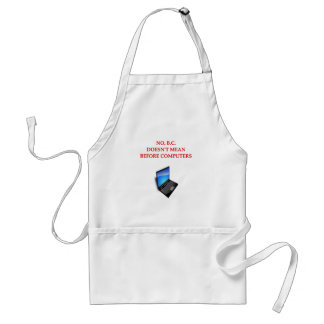 before computers adult apron