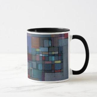Before Dawn Abstract Art Ringer Mug