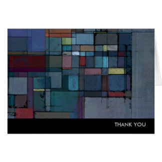 Before Dawn Abstract Art Thank You Note Cards