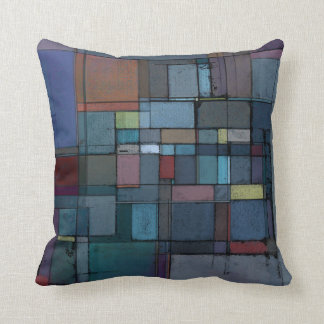 Before Dawn Abstract Art Throw Pillow