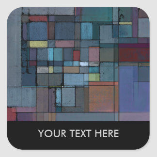 Before Dawn Abstract Personalized Stickers