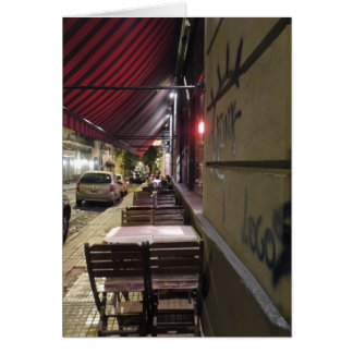 Before Dinner Hour-Sidewalk Cafe in Buenos Aires Card