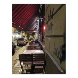 Before Dinner Hour-Sidewalk Cafe in Buenos Aires Postcard