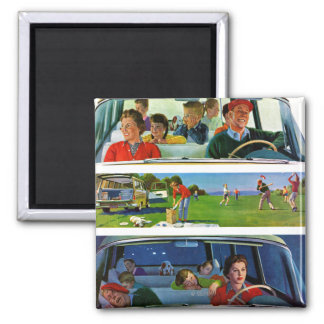 Before, During & After Picnic 2 Inch Square Magnet