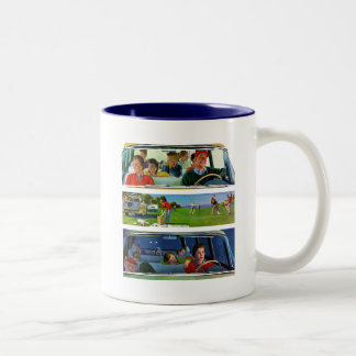 Before, During & After Picnic Two-Tone Coffee Mug