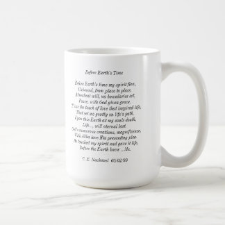 """Before Earth's Time"" poem mug"