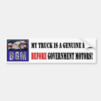 Before Government Motors - Truck Car Bumper Sticker