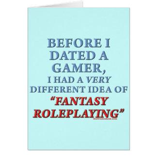Before I Dated a Gamer Card