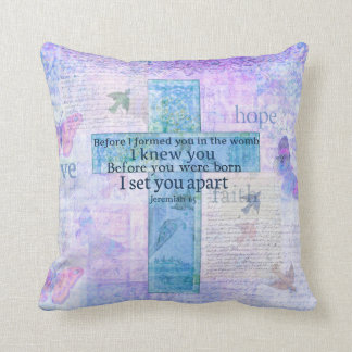 Before I formed you in the womb Jeremiah 1:5 Bible Throw Pillow