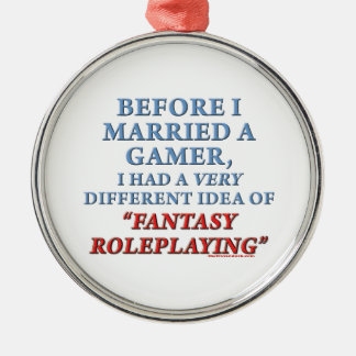 Before I Married a Gamer Metal Ornament