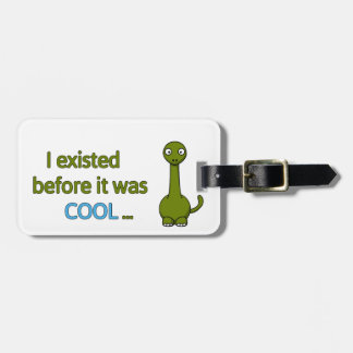 Before it was cool travel bag tag