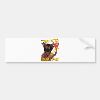 """Before Our Time"" Black Demon Bumper Sticker"