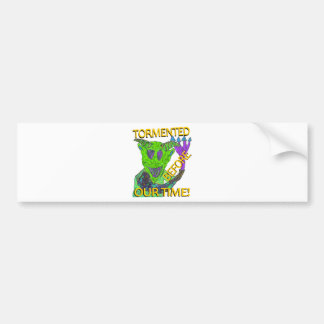 """Before Our Time"" Green Demon Bumper Sticker"