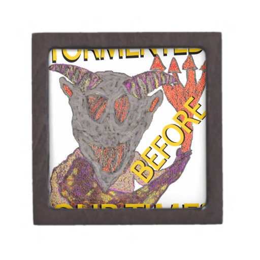 """""""Before Our Time"""" Grey Demon Premium Jewelry Box"""