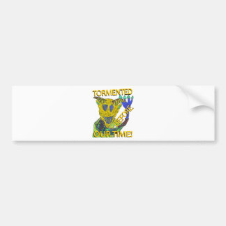 """Before Our Time"" Yellow Demon Bumper Sticker"
