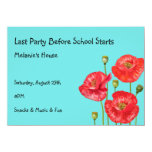 Before School Starts Party Personalized Announcements