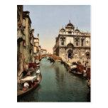 Before St. Mark's and public hospital, Venice, Ita Postcard