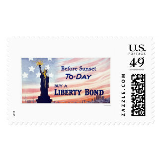 Before Sunset Buy a Liberty Bond Postage Stamp