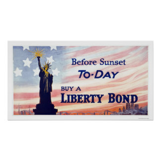 Before Sunset Buy a Liberty Bond Poster