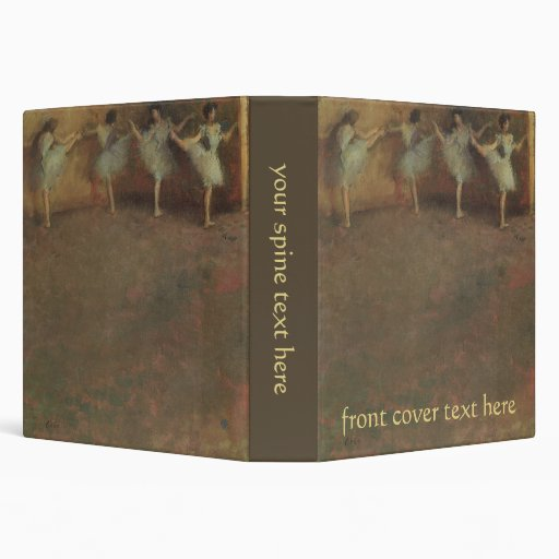 Before the Ballet by Degas, Vintage Impressionism Binders