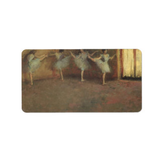 Before the Ballet by Degas, Vintage Impressionism Personalized Address Labels