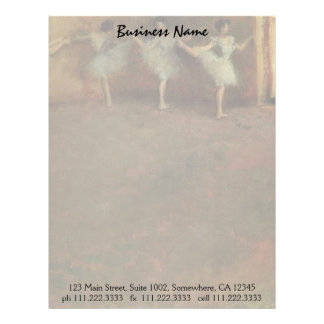 Before the Ballet by Degas, Vintage Impressionism Letterhead