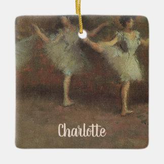 Before the Ballet by Edgar Degas, Vintage Fine Art Ceramic Ornament