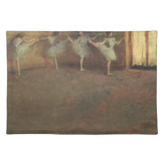 Before the Ballet by Edgar Degas, Vintage Fine Art Cloth Placemat